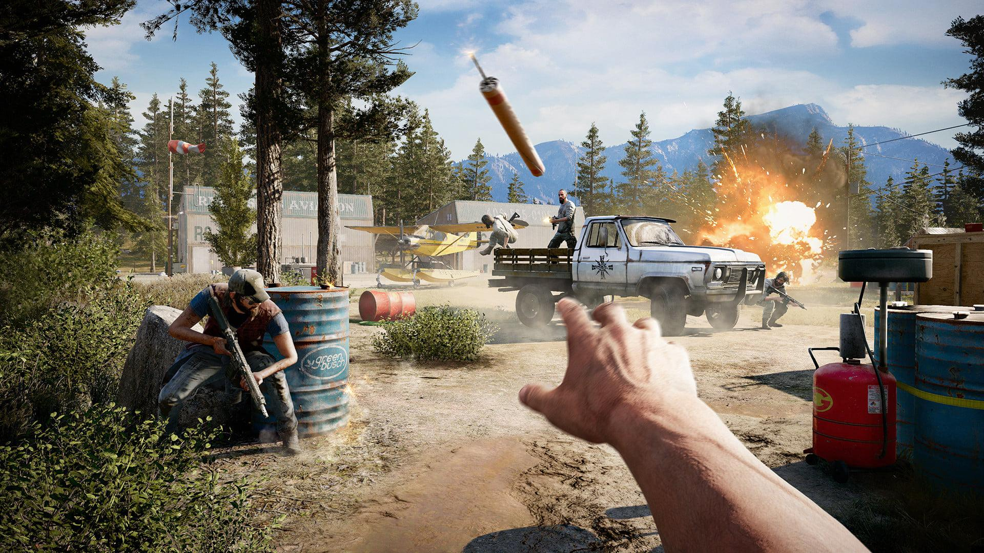 You'll need to learn to use cover if you're to survive in Far Cry 5