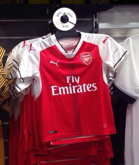 d023ed771 LEAKED  Arsenal s new 2016-17 kit will make you dream of Ian Wright ...