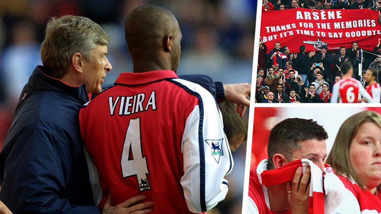 big sale e4970 3940a Patrick Vieira defends Arsene Wenger: Arsenal fans have gone ...