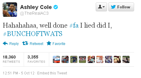 Ashley-Cole-FA-Tweet