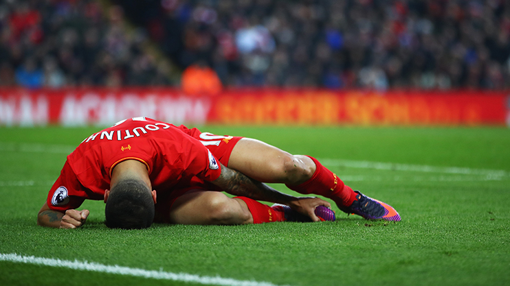 Coutinho was sidelined for six weeks in November