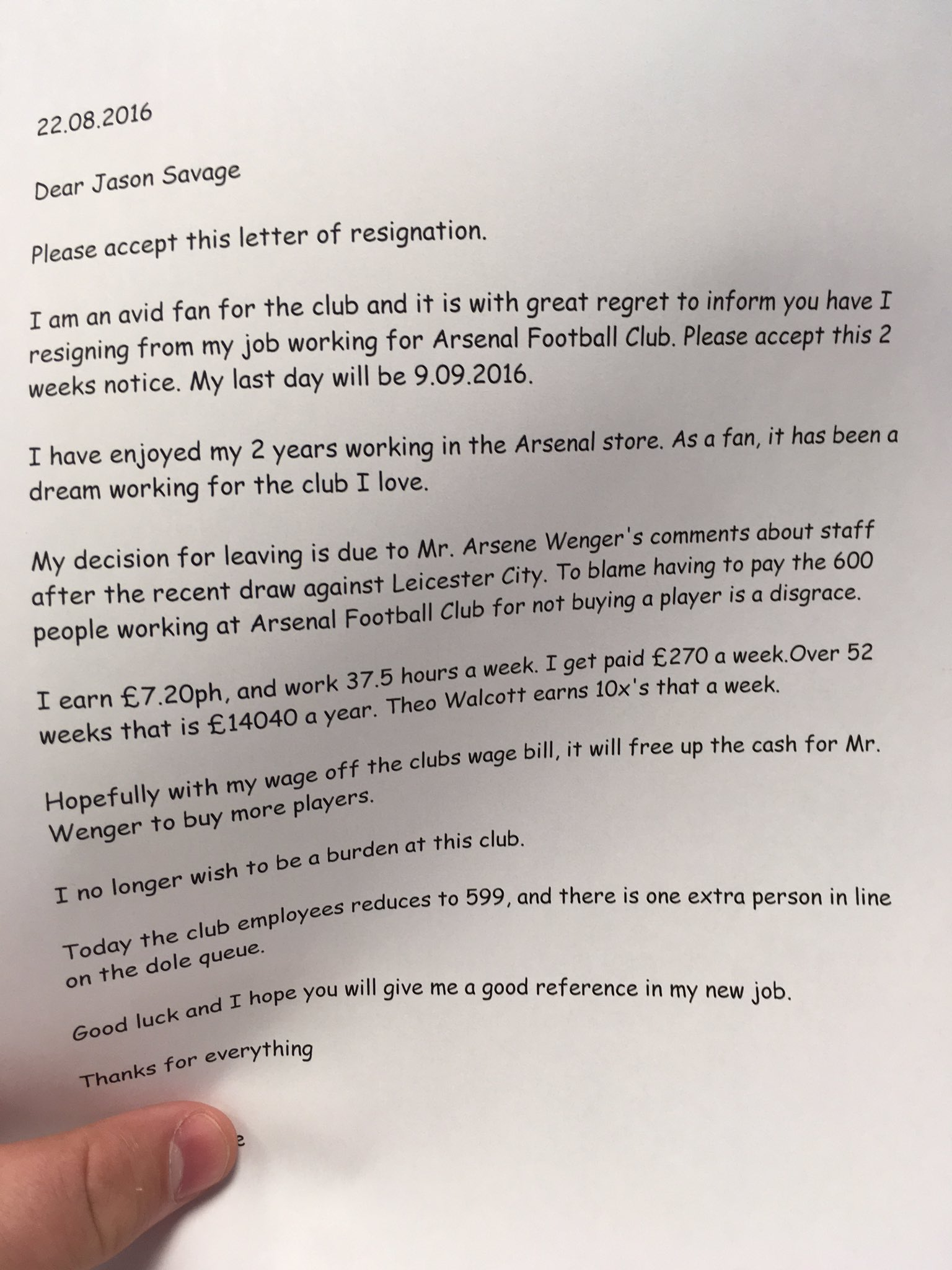 CqcjjLjWgAAFhi This letter from an Arsenal employee