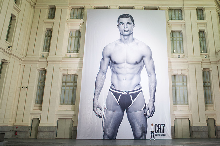 Cristiano Ronaldo – no stranger to an advert, or just standing in his pants