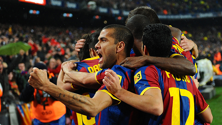 Alves went onto win everything available at Barcelona instead