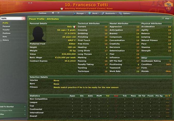 The beautiful evolution of Francesco Totti on Football