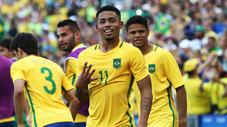 Jesus has four goals in six games for Brazil