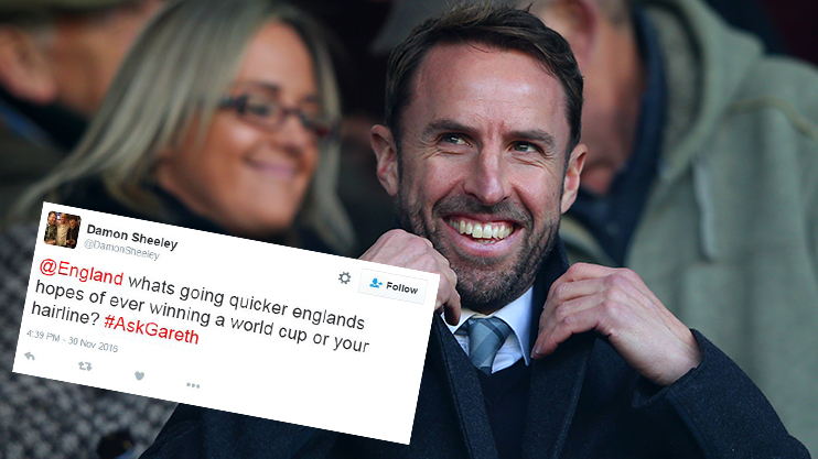 England Boss Gareth Southgate Holds Twitter Qa With Predictable Results