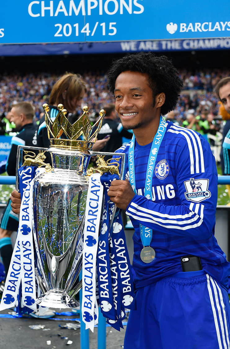 Chelsea winger Juan Cuadrado, the only Colombian to have won a Premier League winners medal