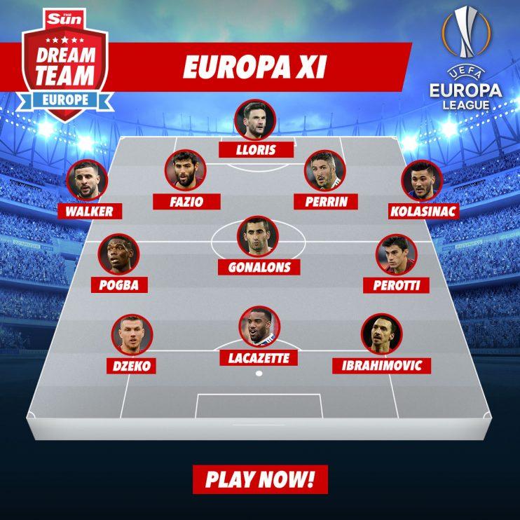 Europa League Best Xi