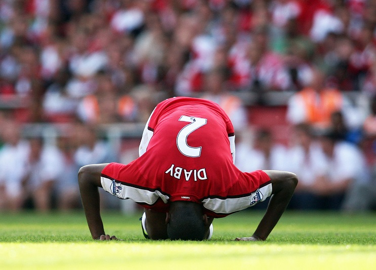 Arsenal's French midfielder Abou Diaby g