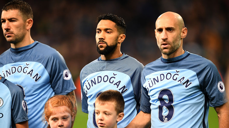 Man City Stars Wear Ilkay Gundogan Shirts Back To Front In Tribute To Midfielder