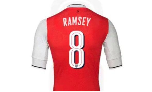 huge discount 3fddb a11de Arsenal fans fume at Aaron Ramsey's new squad number – Dream ...
