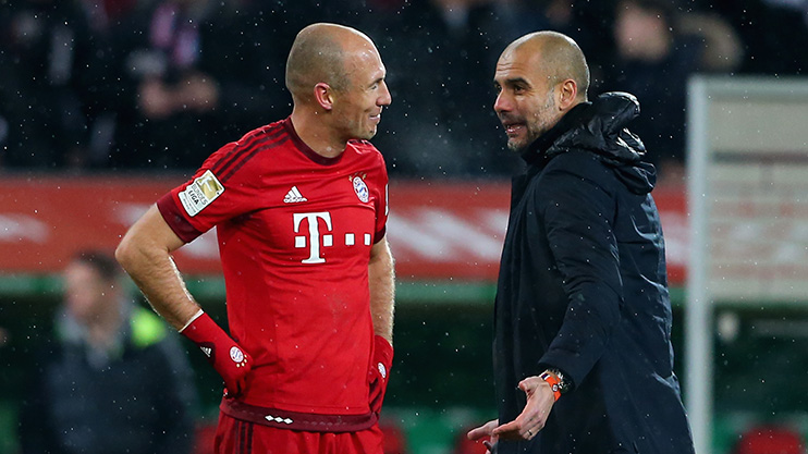 Image result for Arjen Robben with pep