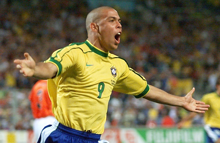 Details about  /Retro Ronaldo Lima jersey world cup 1998 The real Ronaldo