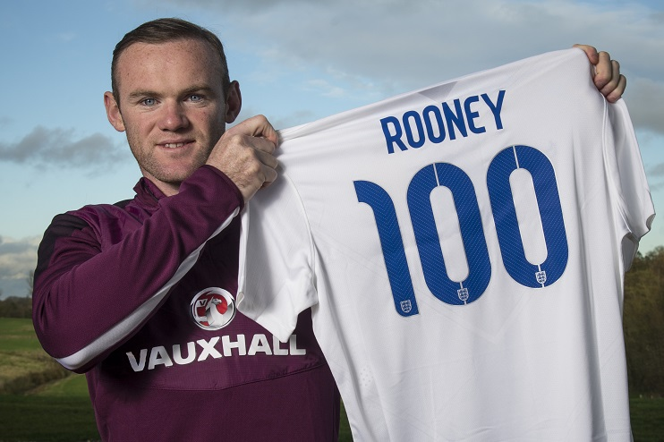 Rooney played 119 times for the Three Lions