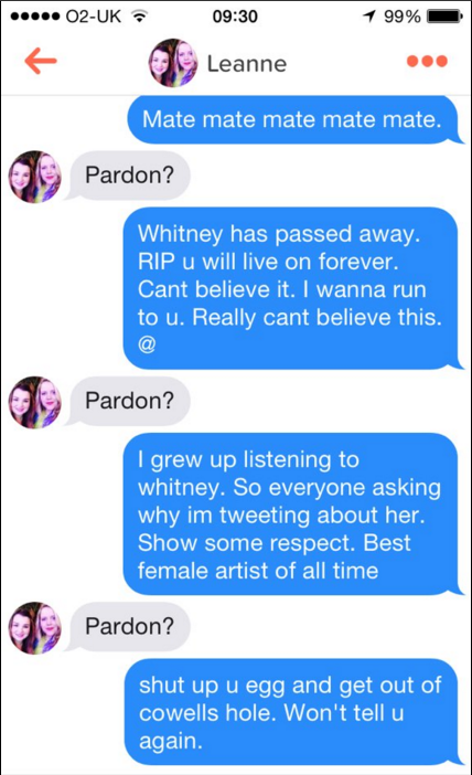 how to open a chat on tinder