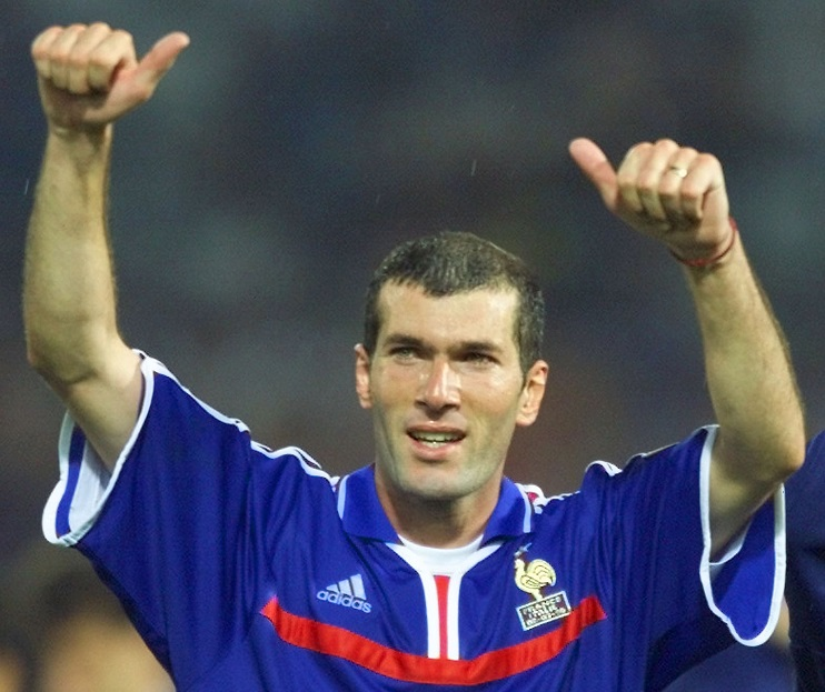 French playmaker Zinedine Zidane celebrates at the