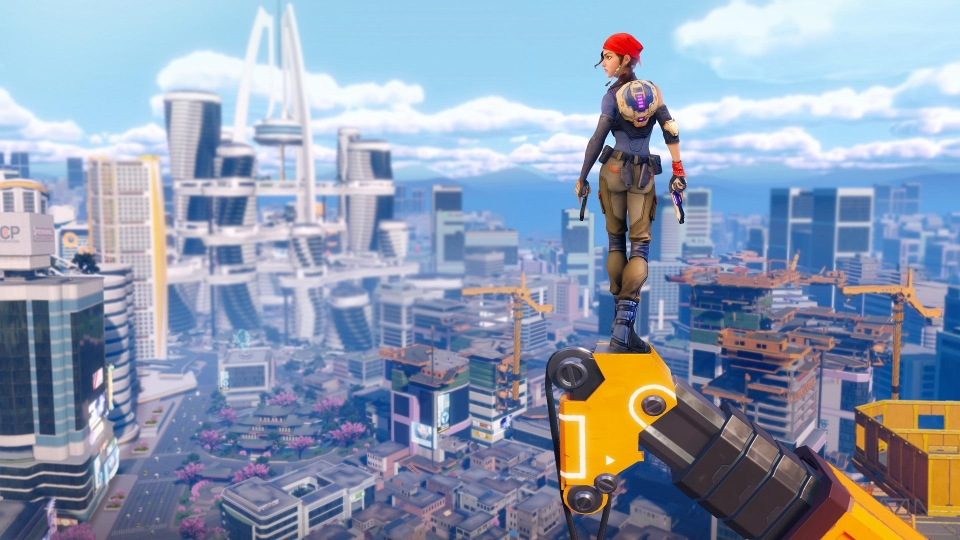 Agents of Mayhem, an open-world sandbox style game, runs smoothly on the PS4 Pro