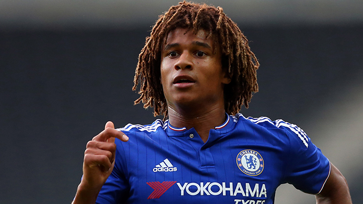 MILTON KEYNES, ENGLAND - AUGUST 03: Nathan Ake of Chelsea during the pre-season friendly between MK Dons and a Chelsea XI at Stadium mk on August 3, 2015 in Milton Keynes, England.  (Photo by Catherine Ivill - AMA/Getty Images)