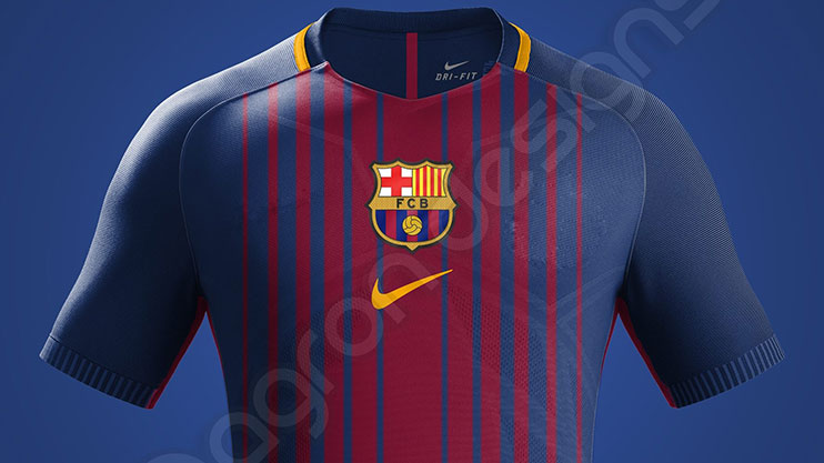 Barcelona kit  Secret sketches show Barcelona s 2017 18 home shirt 4d23e5c22b95