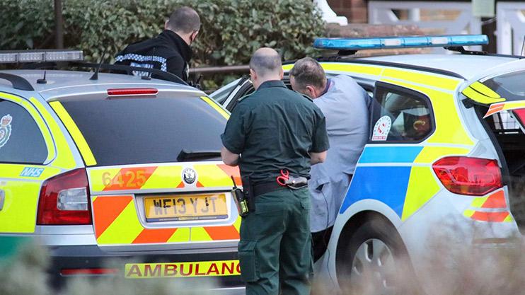 Paul Gascoigne getting into Police car