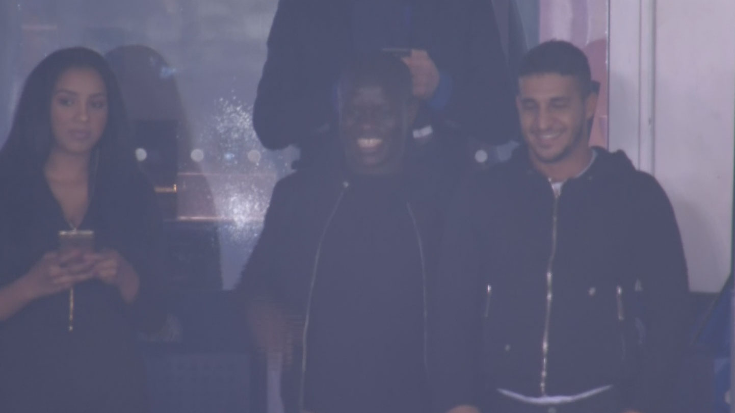 Fans go nuts as N Golo Kante watches Leicester progress to