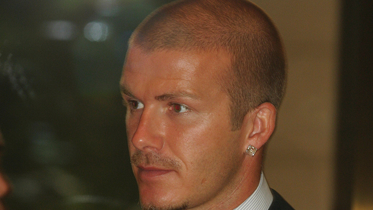 david beckham shaved head