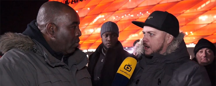 'DT', one of the most vociferous fans on Arsenal Fan TV, launches into a rant after the 5-1 loss to Bayern Munich