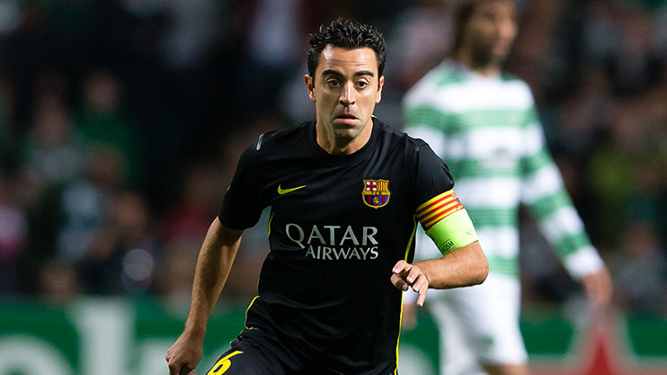 Xavi during his Barcelona days