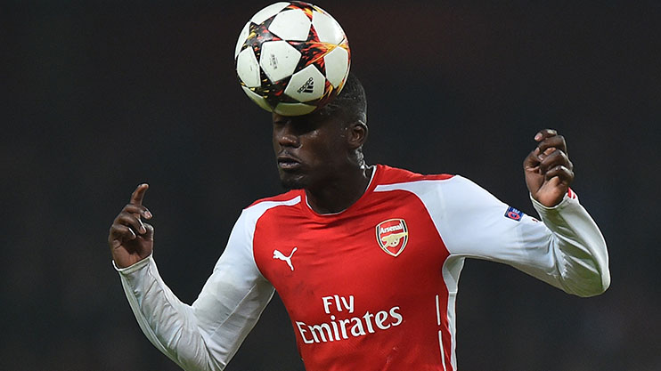 Sanogo displays his unrivalled composure in the air