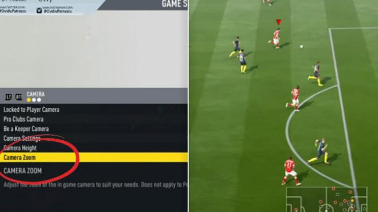 Changing the camera settings will allow you to see much more on the action