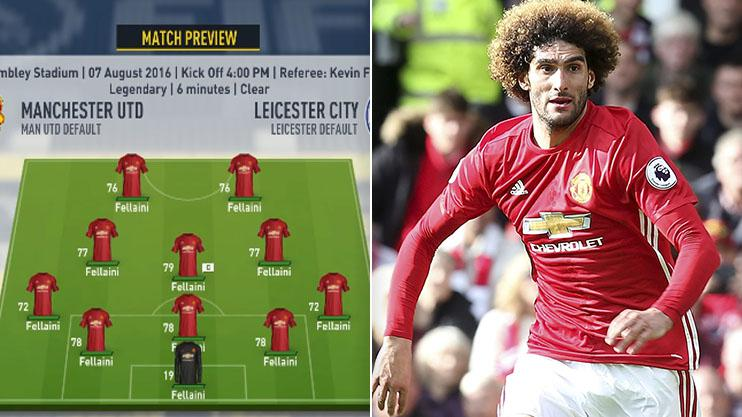 YouTuber Rich Leigh created a team made up just of Fellaini in FIFA 17 Career Mode