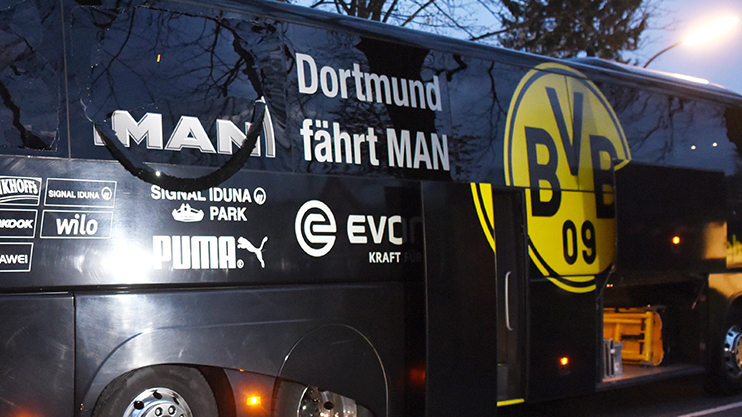 The aftermath of the Borussia Dortmund bus attack