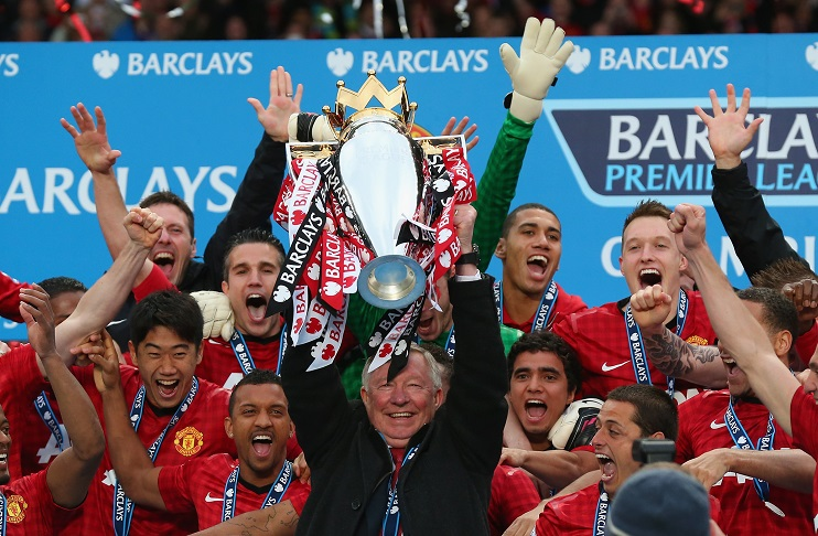 Image result for sir alex ferguson lifting pl title with united team