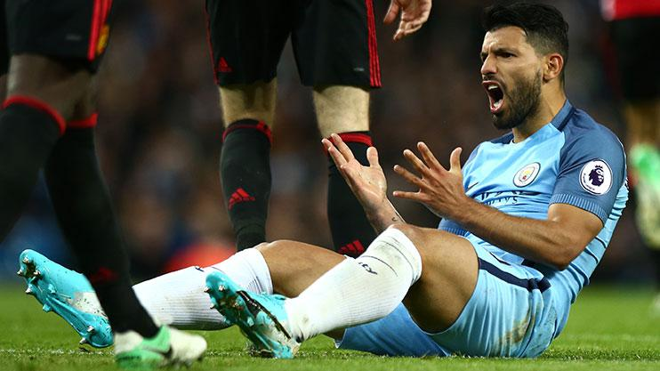Sergio Aguero missed a sitter in the first half