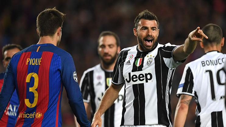 Andrea Barzagli playing for Juventus against Barcelona earlier this month