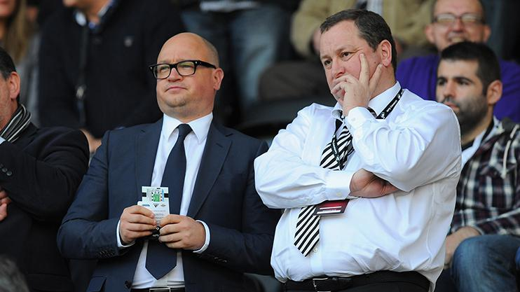 Lee Charnley and Newcastle owner Mike Ashley