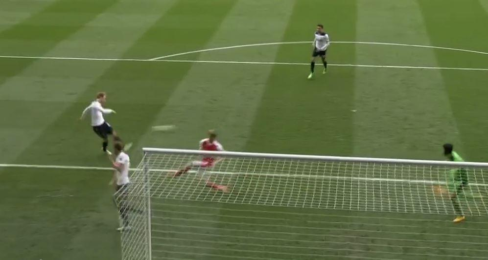 Replays showed Eriksen failed to get clean contact and could only watch as his effort skim off the top of the bar