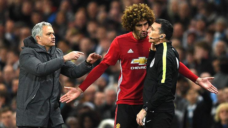 Marouane Fellaini's head-butt incensed his manager