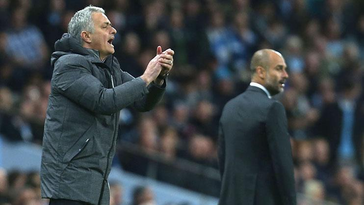 Jose Mourinho was up against his old adversary Pep Guardiola this evening