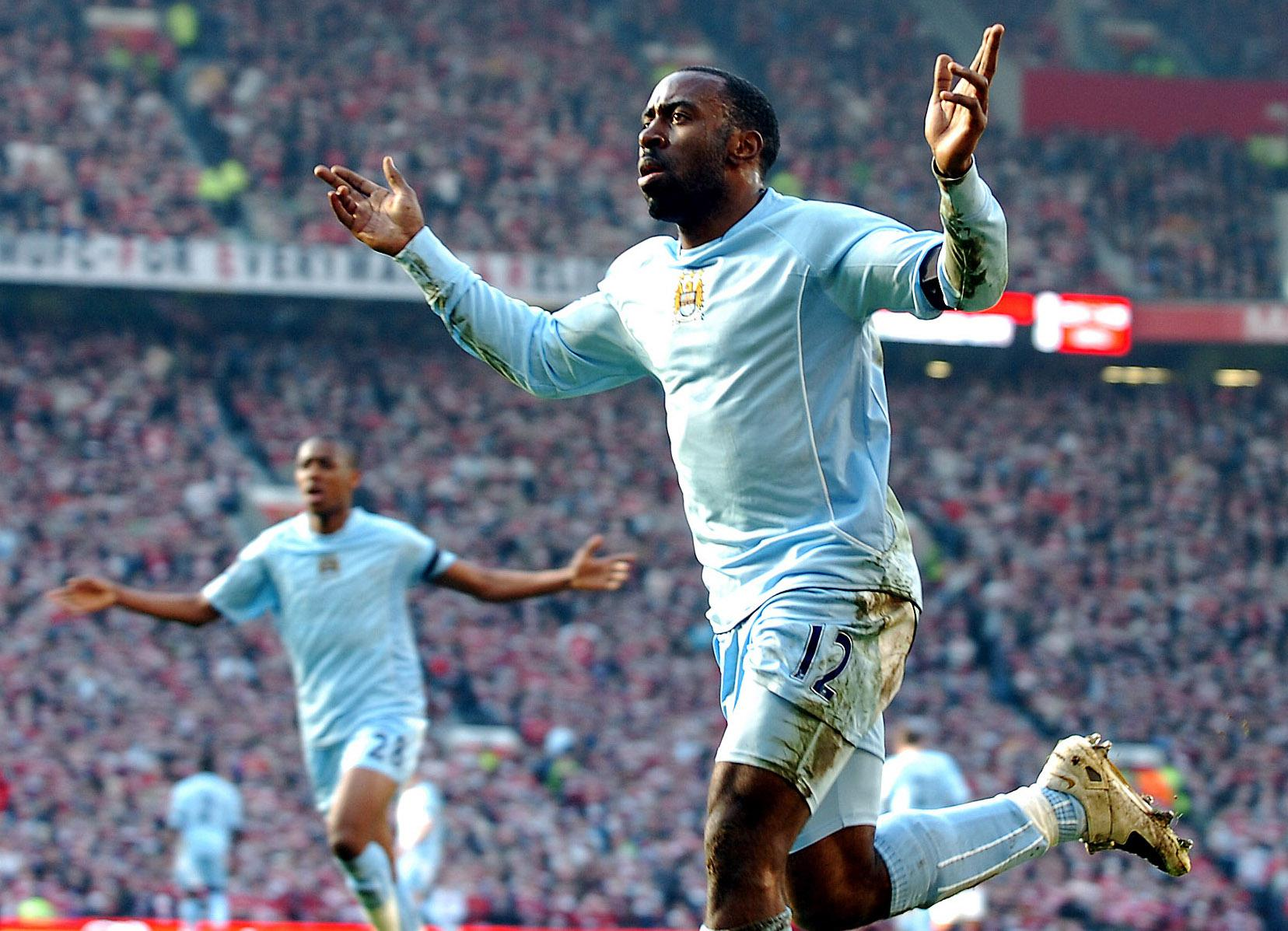 Vassell donned City's one-off kit for the Munich air disaster