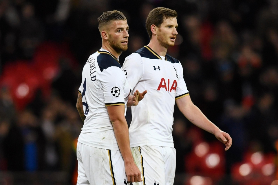 The defence has a Tottenham feel to it with Jan Vertonghen and Toby Alderweireld