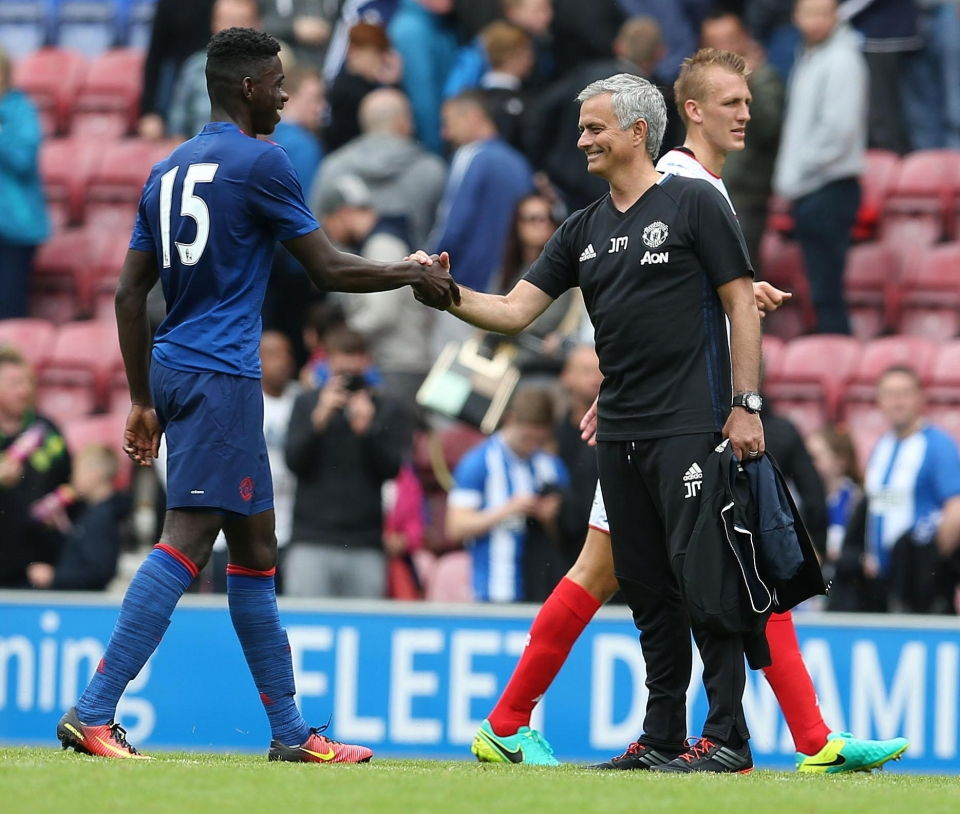Jose Mourinho is close to handing Axel Tuanzebe his Manchester United debut