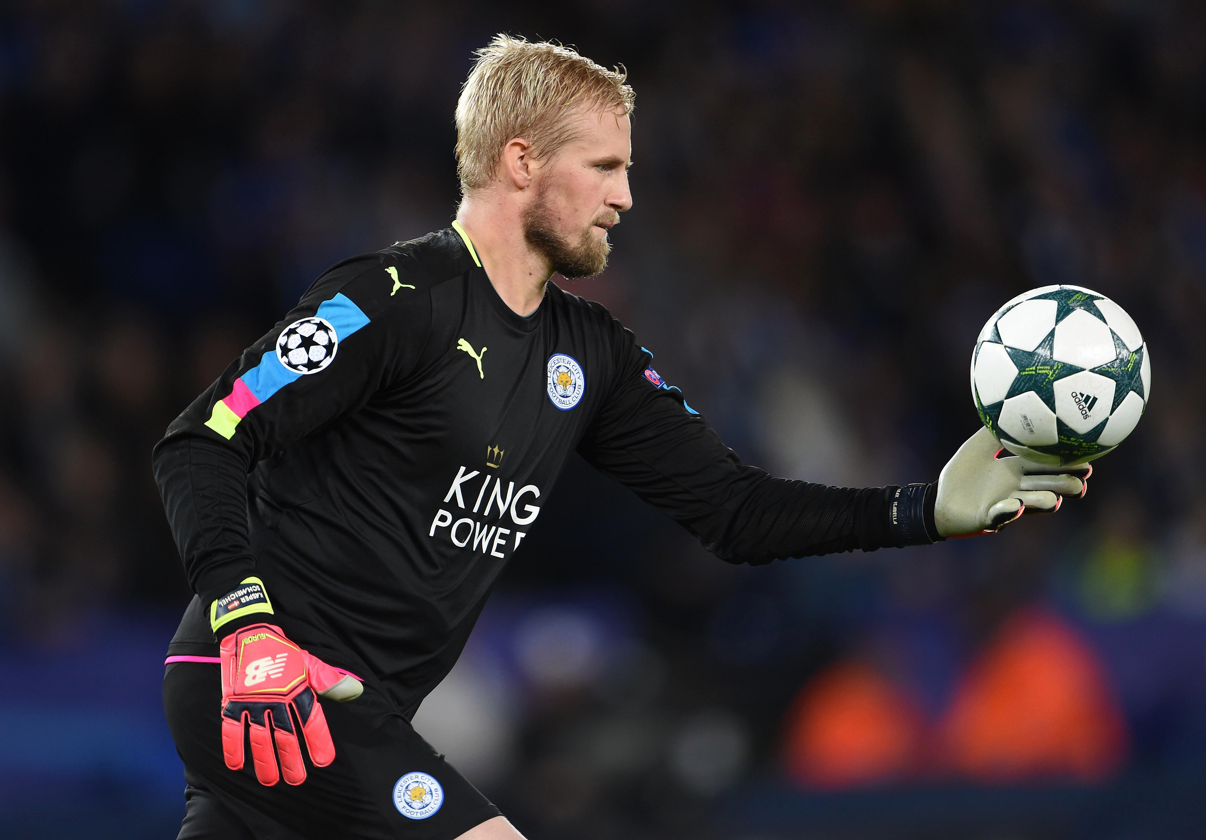 Kasper Schmeichel was exceptional for Leicester in the Champions League