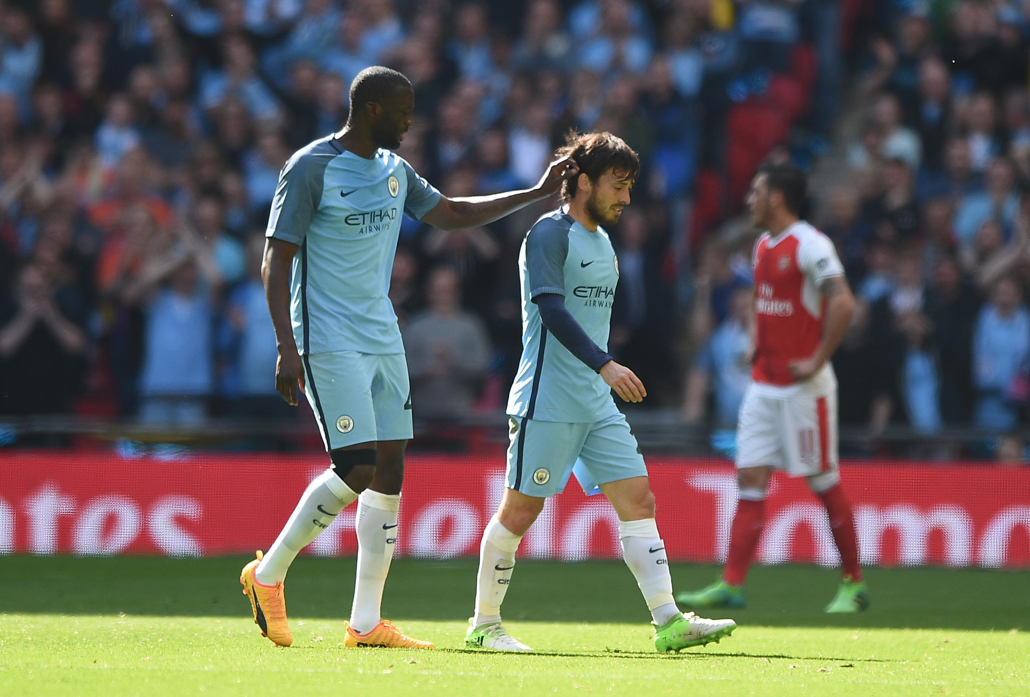 David Silva hobbled out of Manchester City's FA Cup semi-final defeat to Manchester City after a heavy tackle from Gabriel