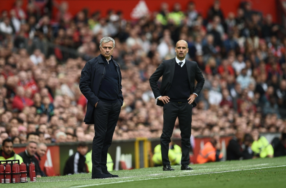 Jose Mourinho and Pep Guardiola go head to head tonight in the Manchester derby