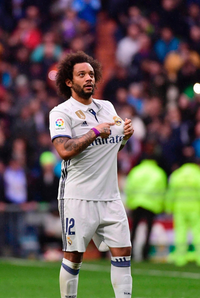 Marceloa was the hero for Los Blancos, who lead Barca by three points