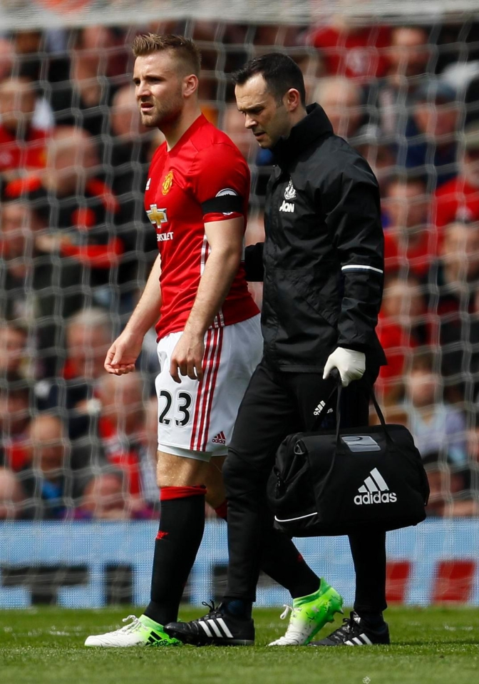 Luke Shaw has had a tough season - and it got even worse when he was injured in the eighth minute