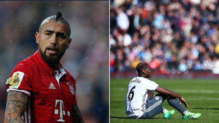 Vidal and Pogba have enjoyed mixed spells at Bayern Munich and Manchester United respectively