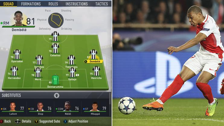Monaco star Mbappe doesn't even make the starting line up